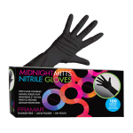 Framar Midnight Mitts Disposable Nitrile Gloves 100/box