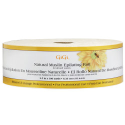 "GiGi Natural Muslin Roll 2.5"" X 100 Yards"