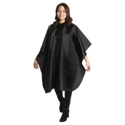 Dannyco 360 Black Snap-Closure Cutting Cape