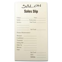 Allen Print Salon Service And Sales Slip