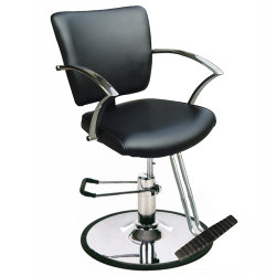 SY-8211 BLACK STYLING CHAIR W/ROUND BASE