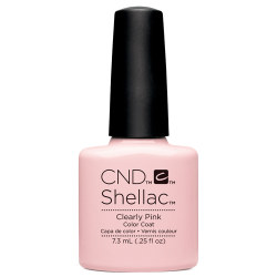 CND Shellac Clearly Pink UV Color Coat