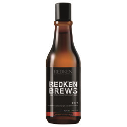 300ML REDKEN BREWS 3-IN-1 SH/CND/WASH
